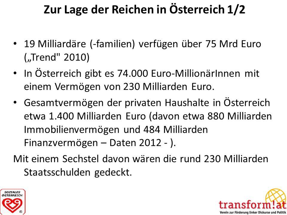 Zur Lage der Reichen in Österreich 1/2