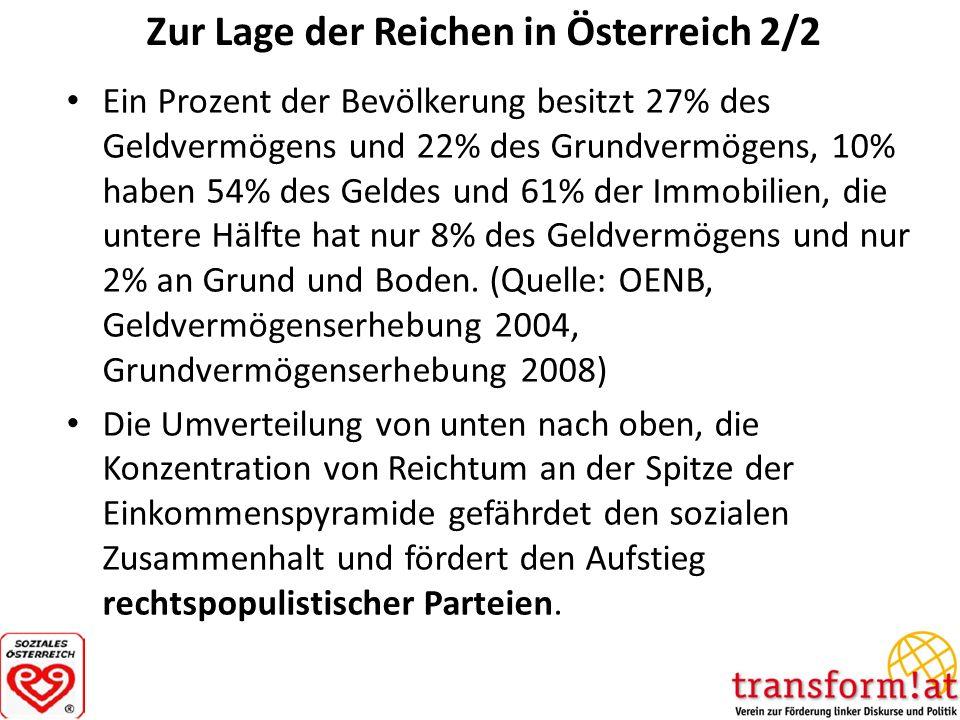 Zur Lage der Reichen in Österreich 2/2