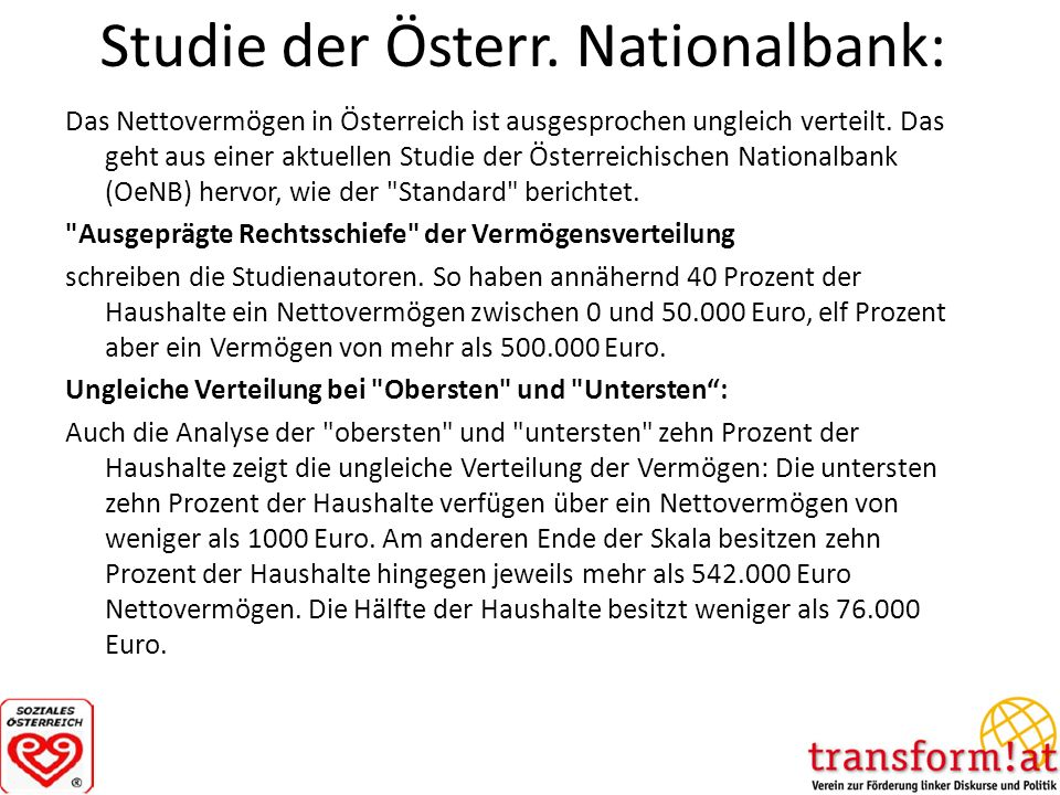 Studie der Österr. Nationalbank: