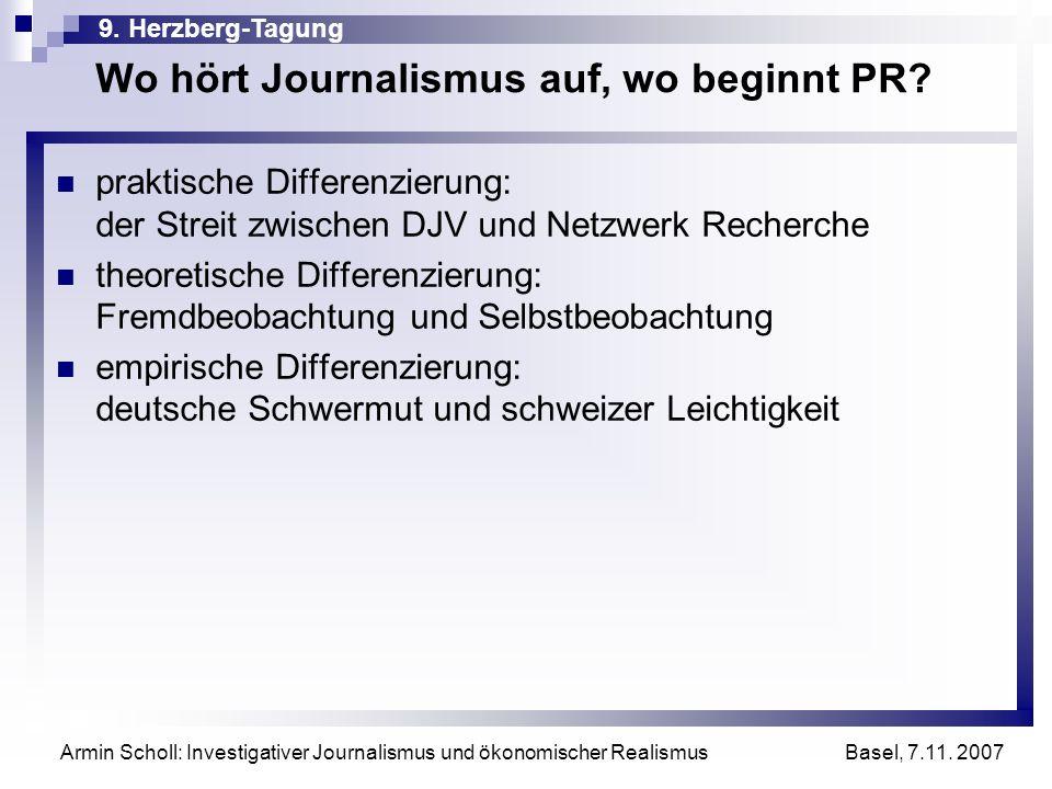 Wo hört Journalismus auf, wo beginnt PR