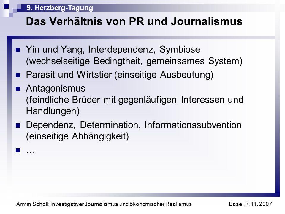 Das Verhältnis von PR und Journalismus