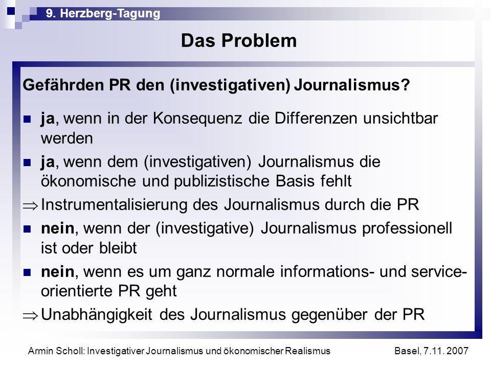 Das Problem Gefährden PR den (investigativen) Journalismus