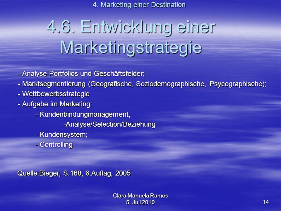 4.6. Entwicklung einer Marketingstrategie