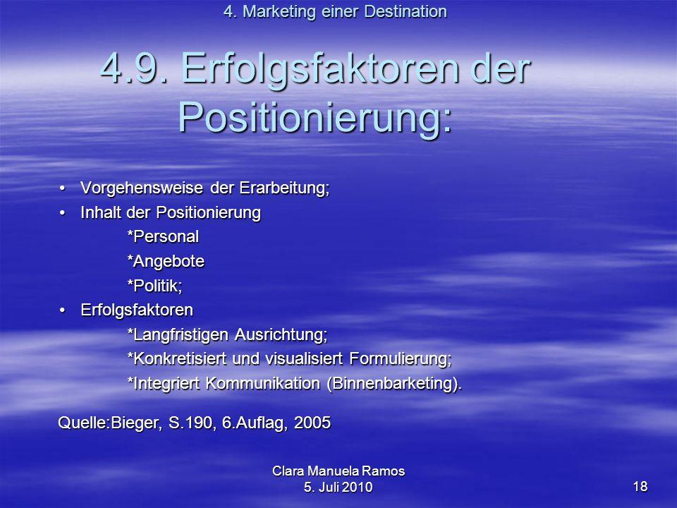 4.9. Erfolgsfaktoren der Positionierung: