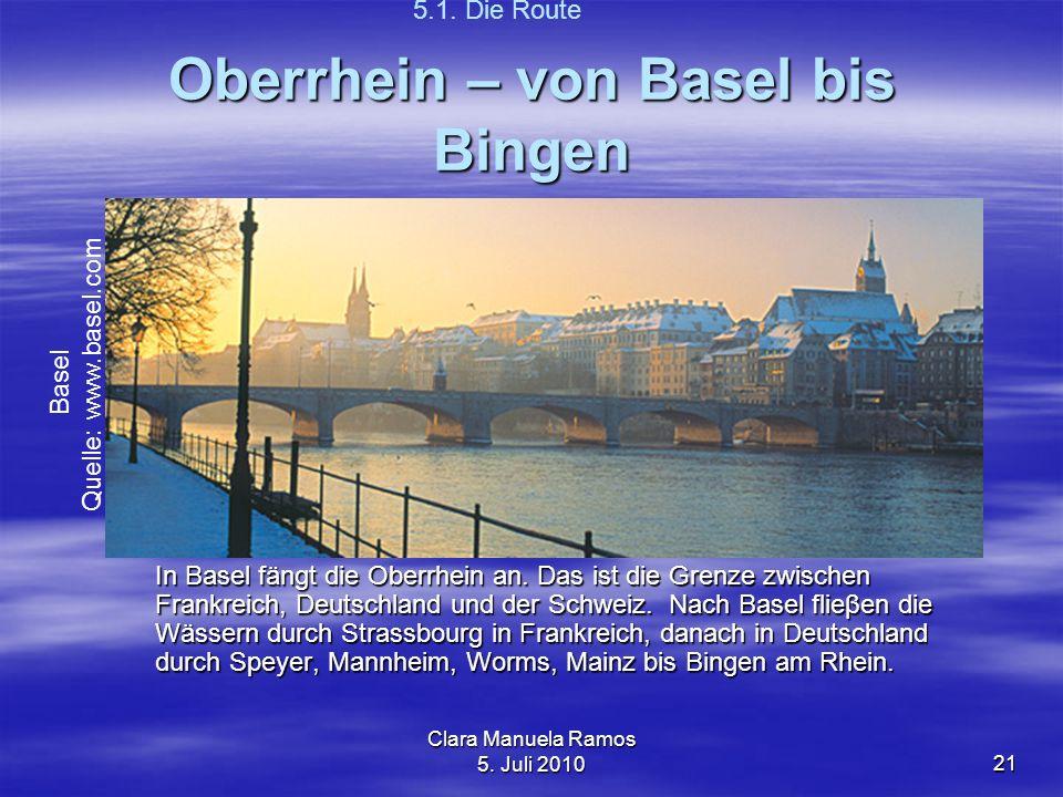 Oberrhein – von Basel bis Bingen