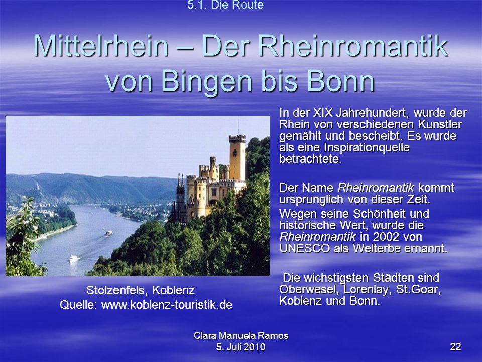 Mittelrhein – Der Rheinromantik von Bingen bis Bonn
