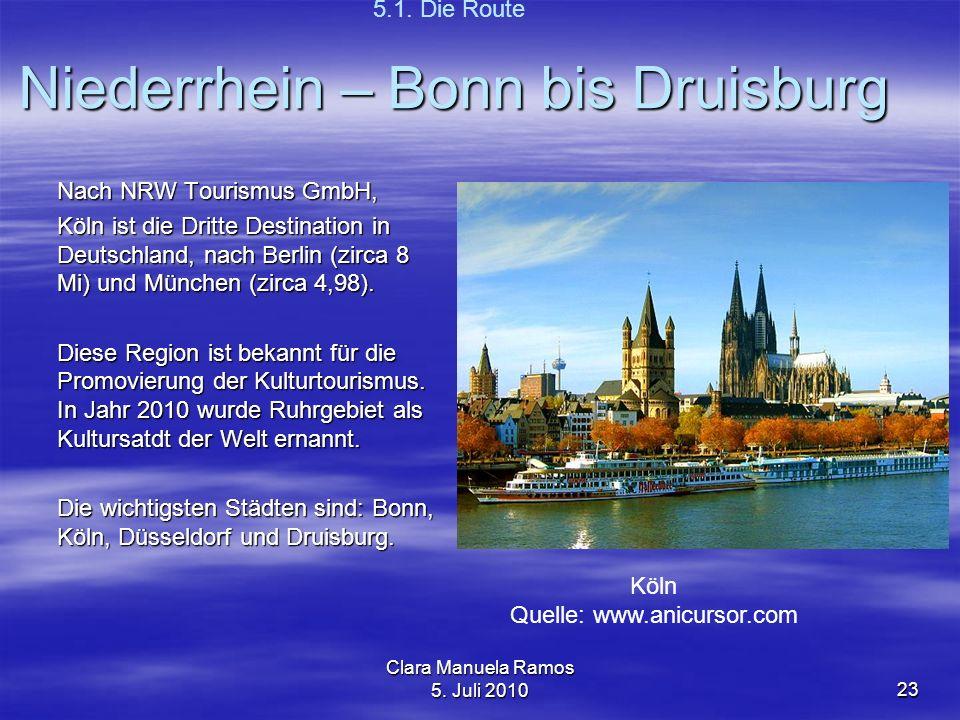 Niederrhein – Bonn bis Druisburg