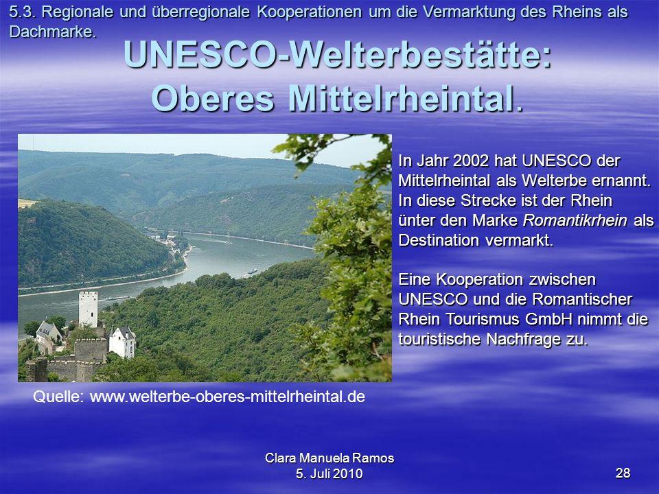 UNESCO-Welterbestätte: Oberes Mittelrheintal.