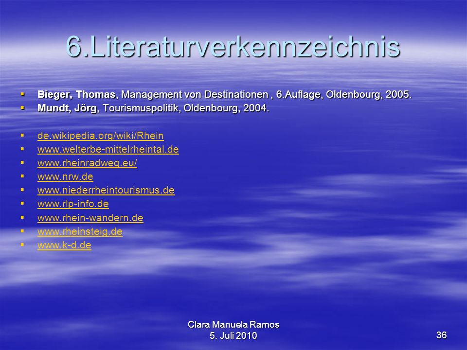 6.Literaturverkennzeichnis