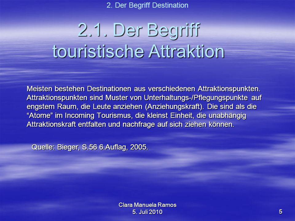 2.1. Der Begriff touristische Attraktion