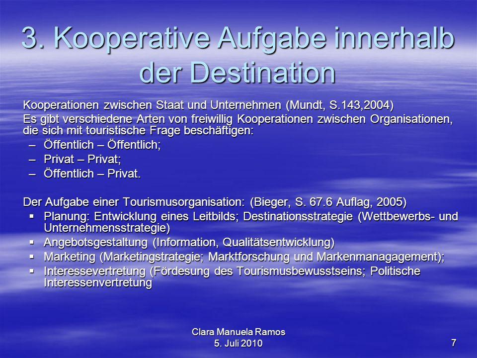 3. Kooperative Aufgabe innerhalb der Destination