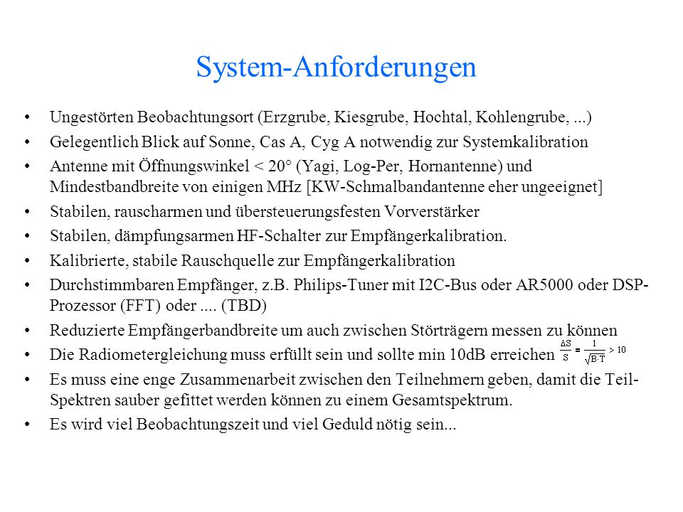 System-Anforderungen