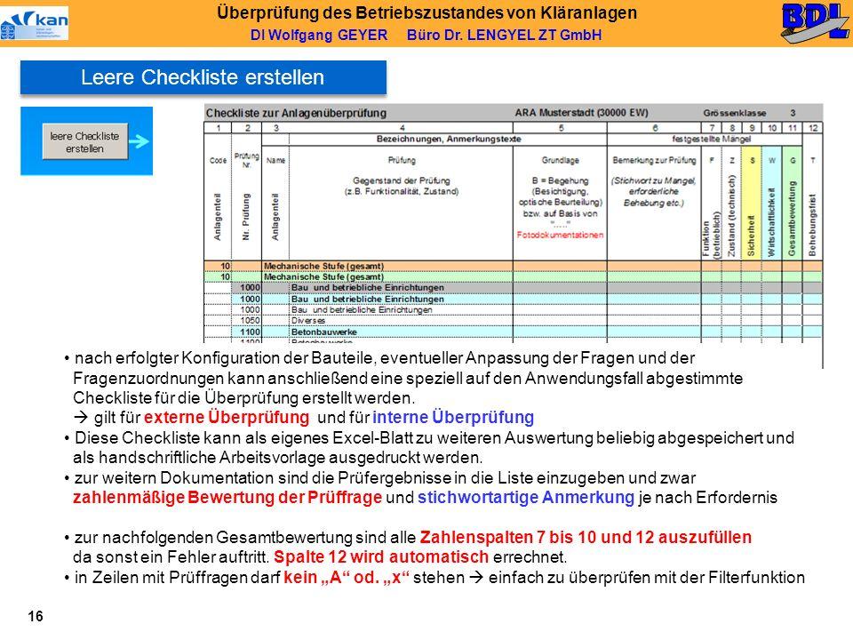 Leere Checkliste erstellen