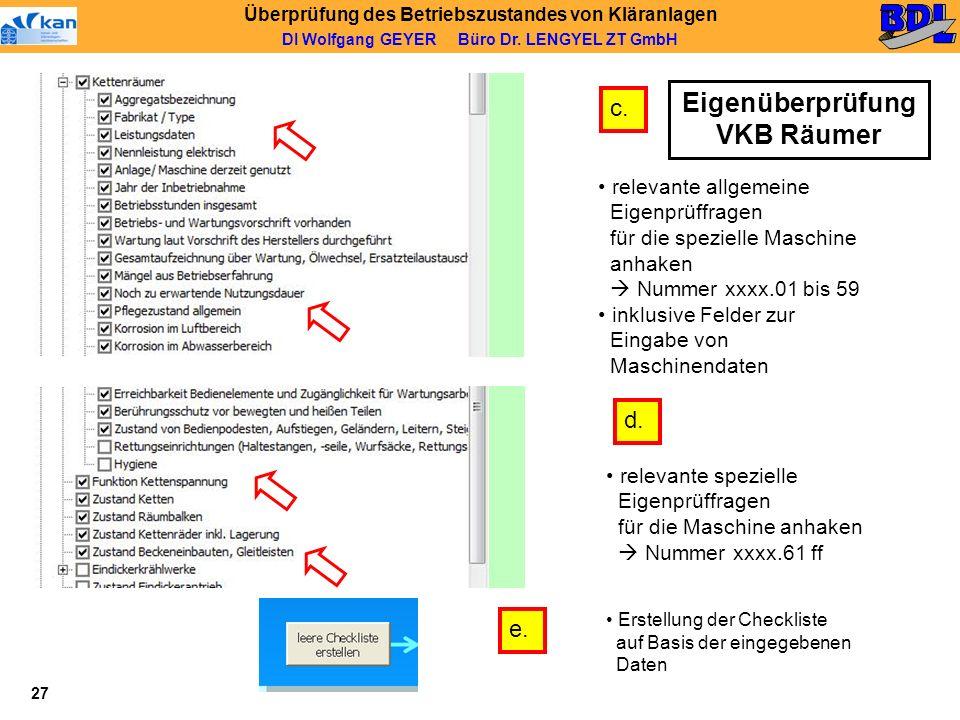 Eigenüberprüfung VKB Räumer