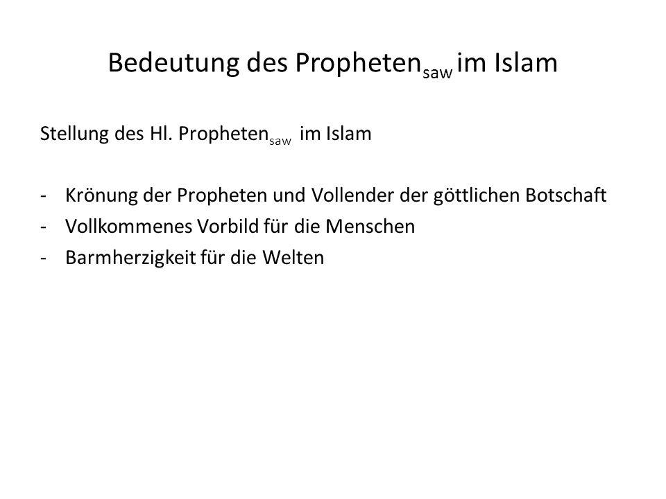 Bedeutung des Prophetensaw im Islam