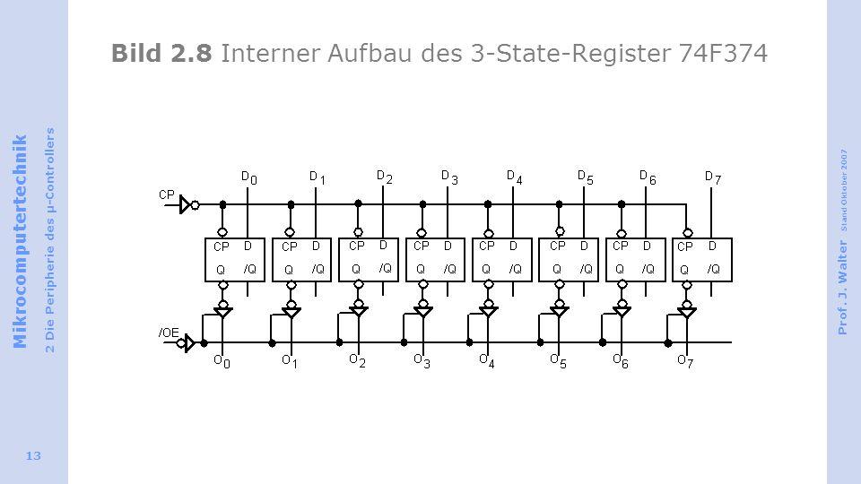 Bild 2.8 Interner Aufbau des 3-State-Register 74F374
