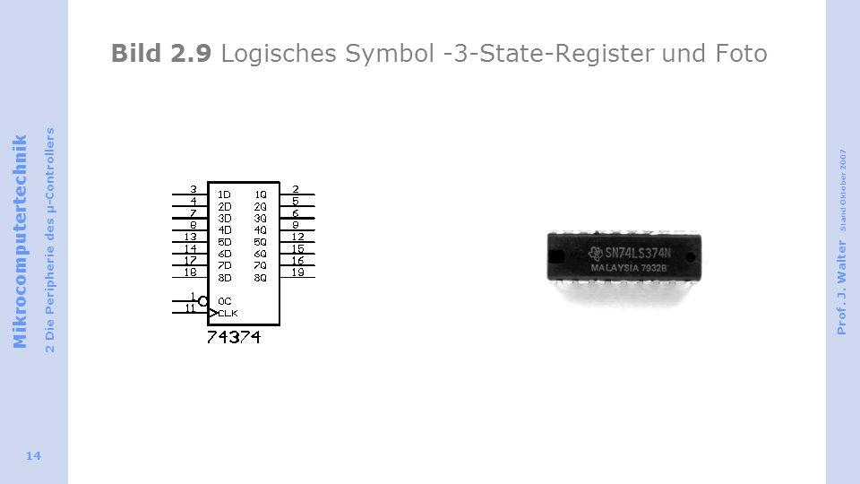 Bild 2.9 Logisches Symbol -3-State-Register und Foto