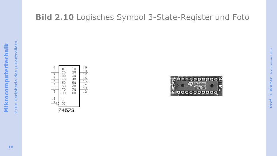 Bild 2.10 Logisches Symbol 3-State-Register und Foto