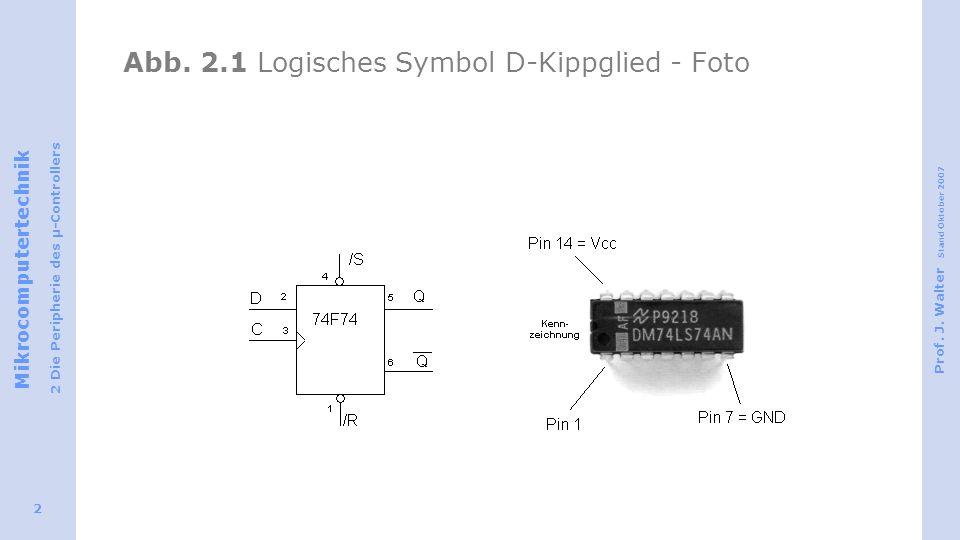 Abb. 2.1 Logisches Symbol D-Kippglied - Foto