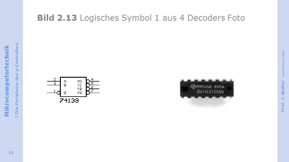 Bild 2.13 Logisches Symbol 1 aus 4 Decoders Foto