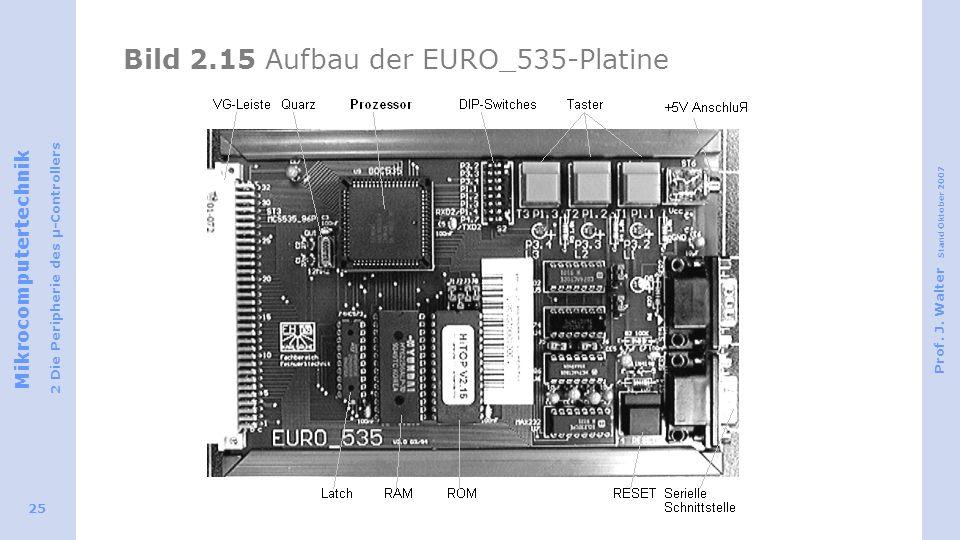 Bild 2.15 Aufbau der EURO_535-Platine