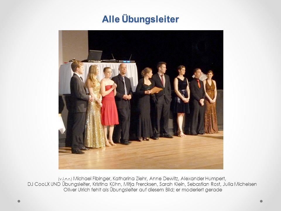 Alle Übungsleiter (v.l.n.r.) Michael Fibinger, Katharina Ziehr, Anne Dewitz, Alexander Humpert,