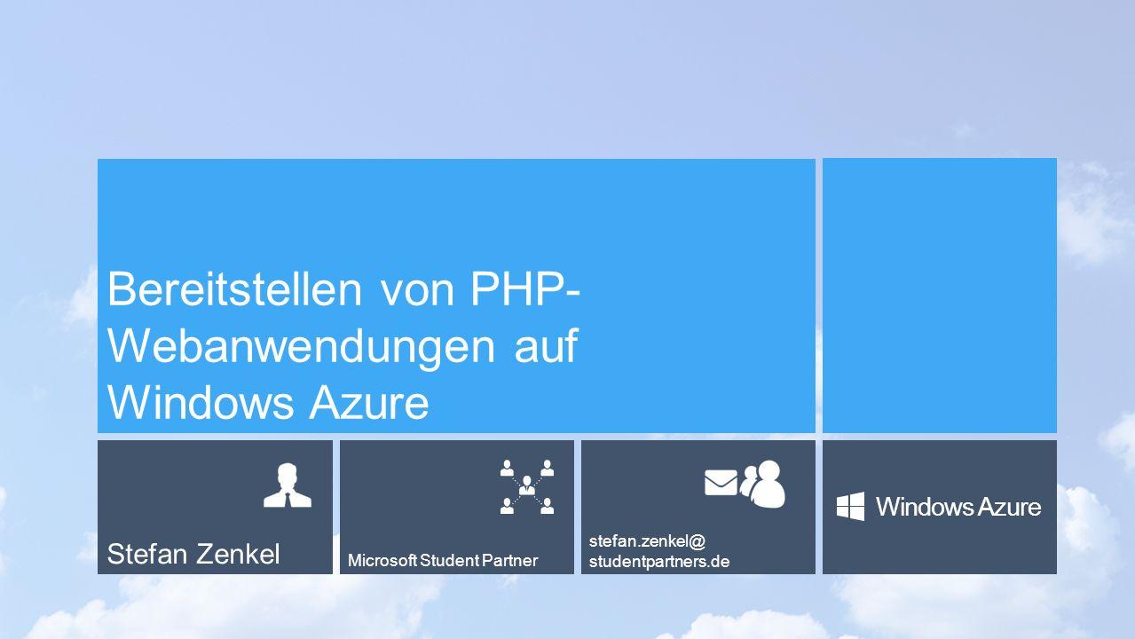 Bereitstellen von PHP-Webanwendungen auf Windows Azure