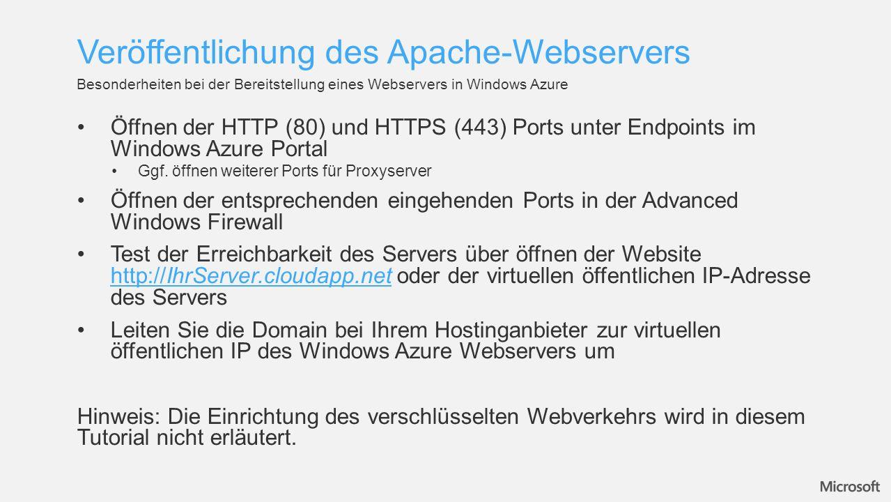 Veröffentlichung des Apache-Webservers