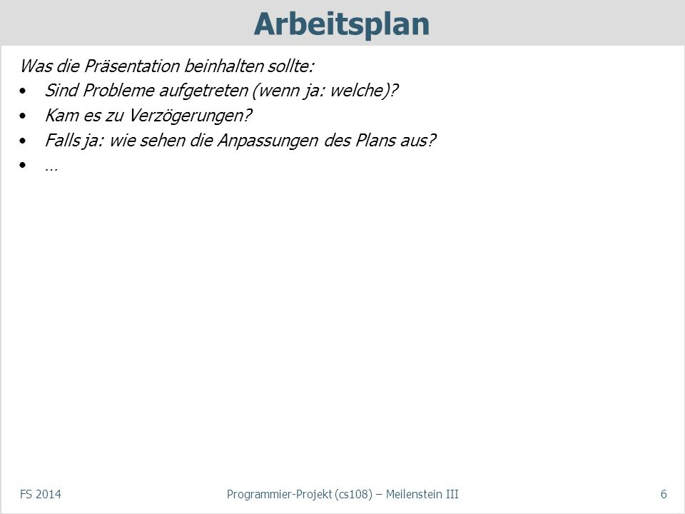 Programmier-Projekt (cs108) – Meilenstein III