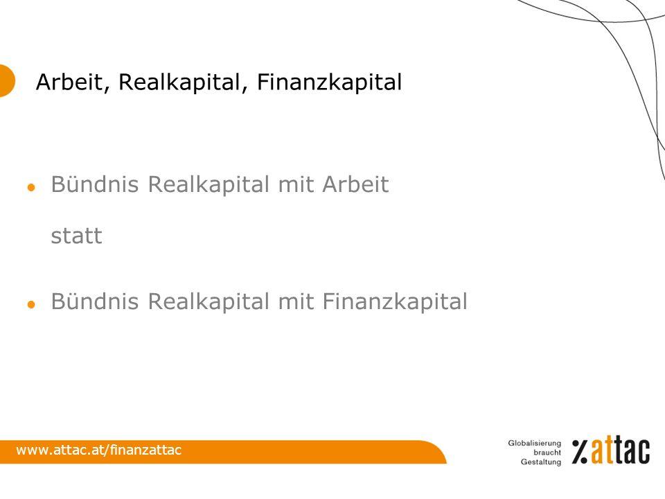 Arbeit, Realkapital, Finanzkapital