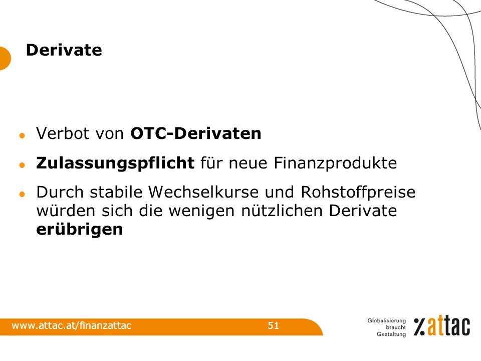 Verbot von OTC-Derivaten Zulassungspflicht für neue Finanzprodukte