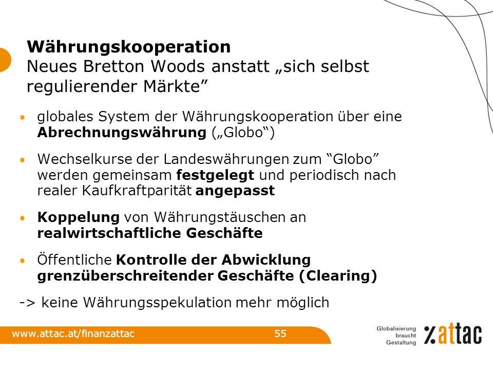 """Währungskooperation Neues Bretton Woods anstatt """"sich selbst regulierender Märkte"""