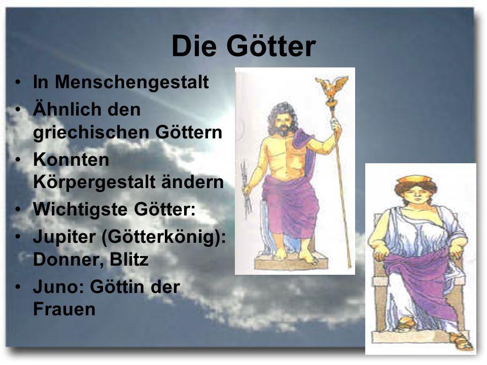 Die Götter In Menschengestalt Ähnlich den griechischen Göttern