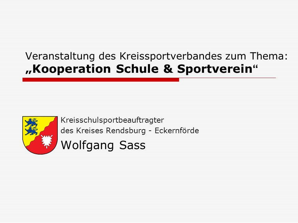 """Veranstaltung des Kreissportverbandes zum Thema: """"Kooperation Schule & Sportverein"""