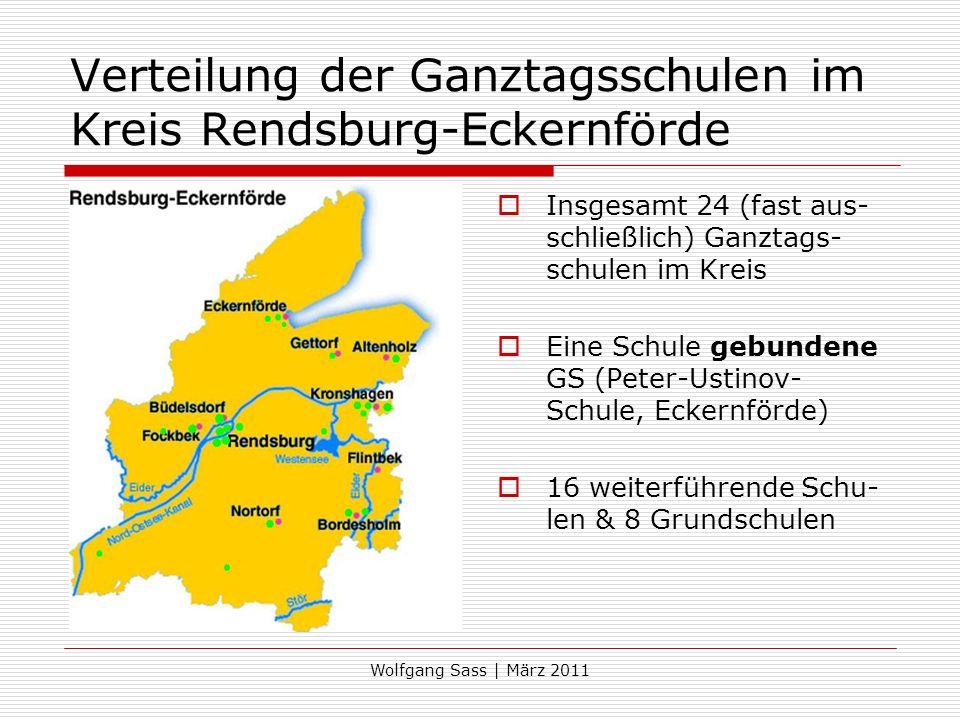 Verteilung der Ganztagsschulen im Kreis Rendsburg-Eckernförde