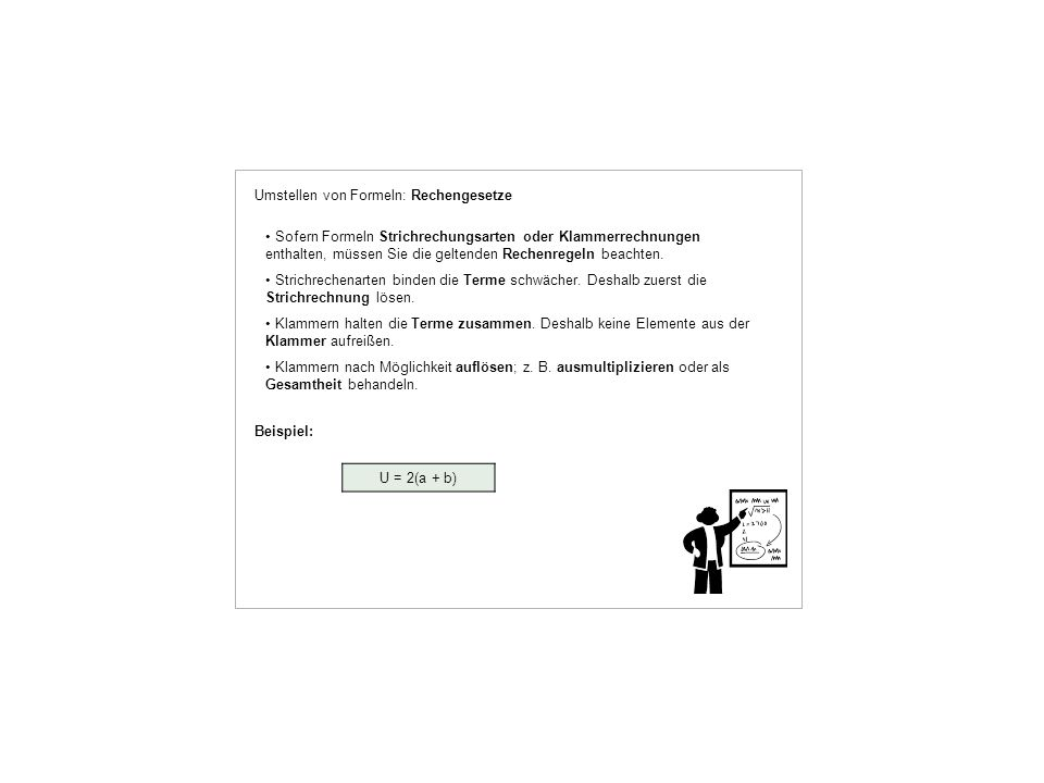 Umstellen von Formeln: Rechengesetze
