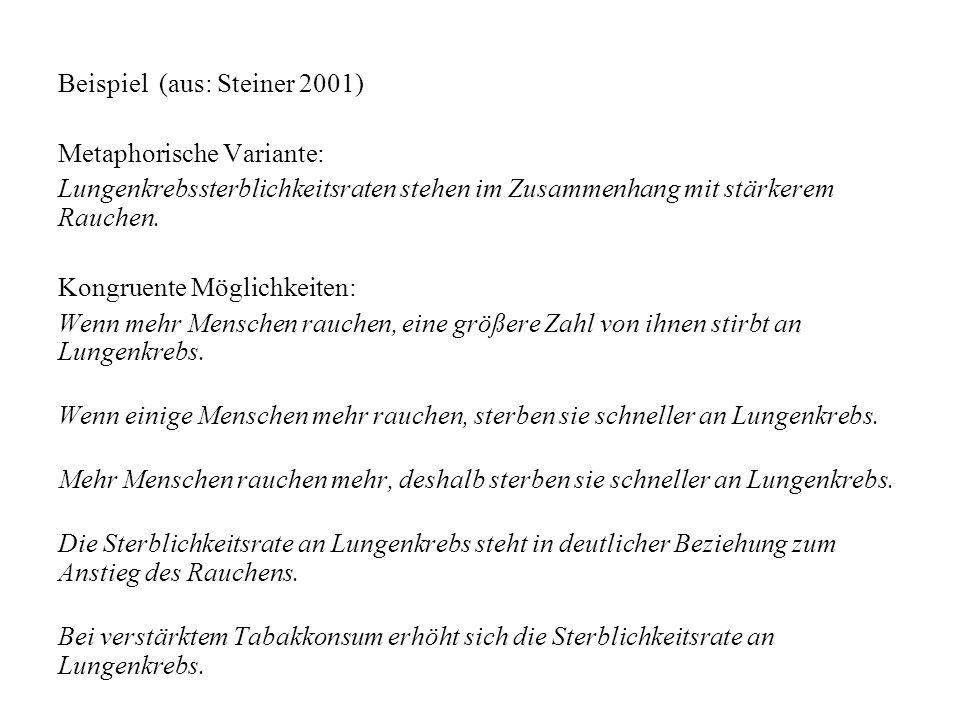 Beispiel (aus: Steiner 2001)
