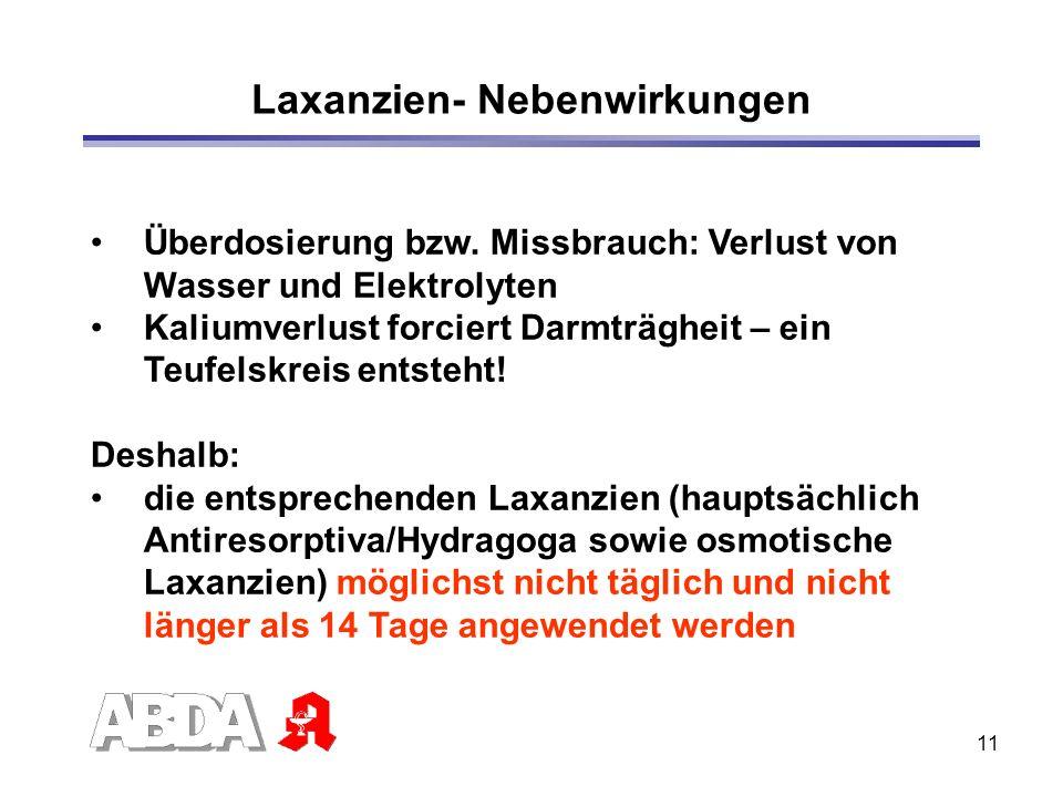 Laxanzien- Nebenwirkungen