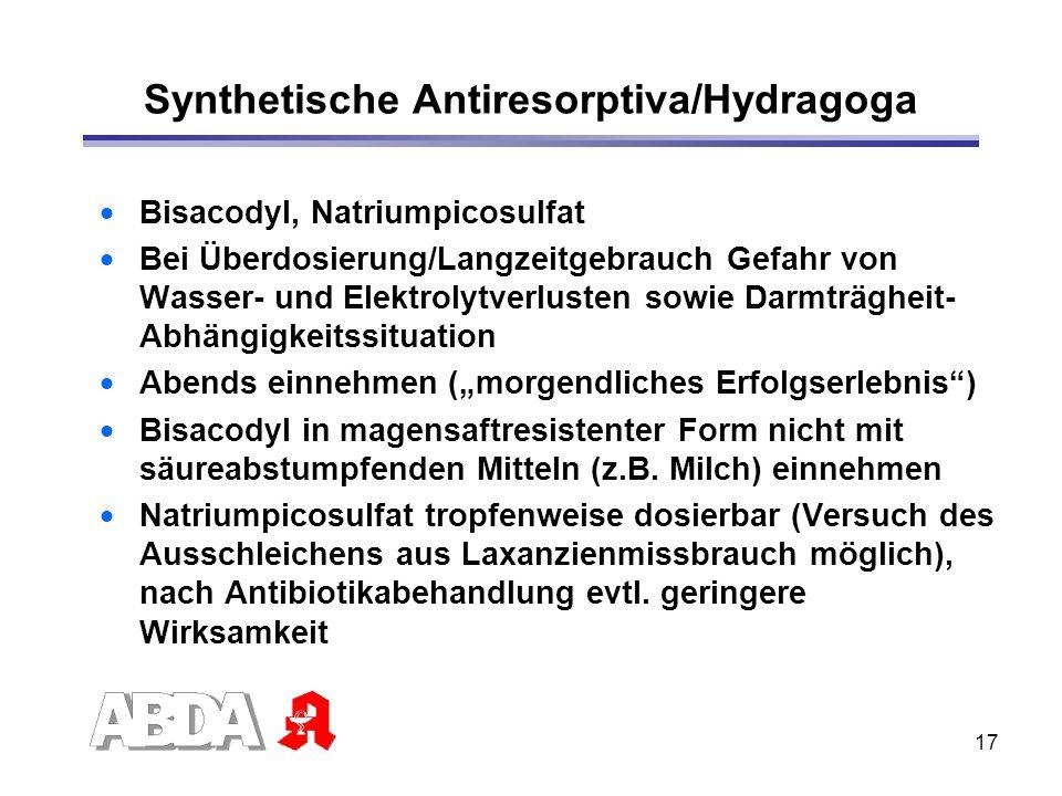 Synthetische Antiresorptiva/Hydragoga