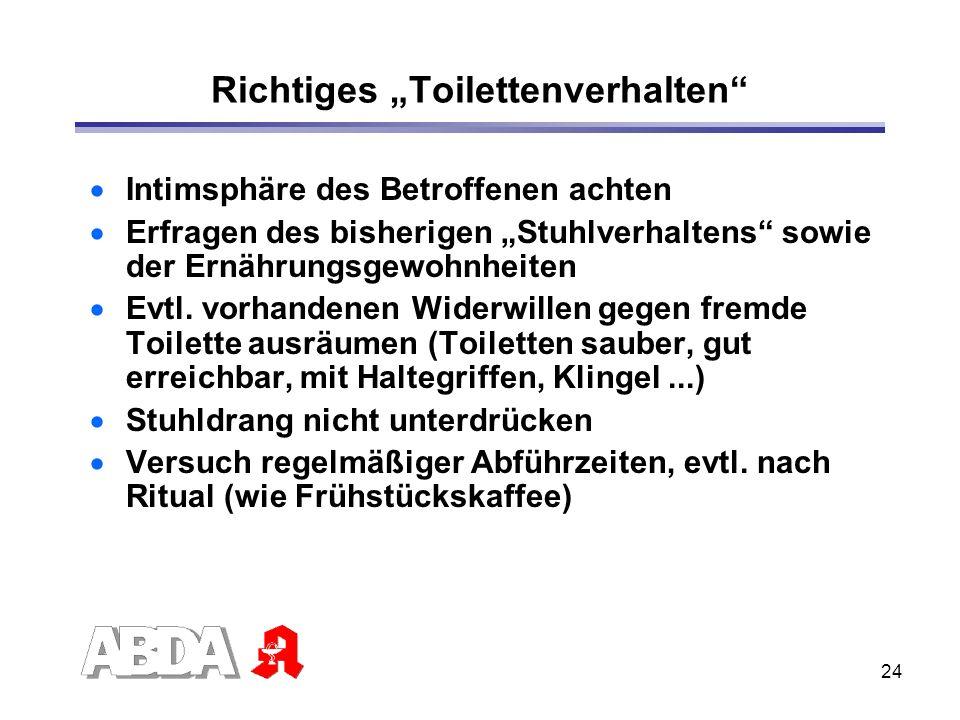 """Richtiges """"Toilettenverhalten"""