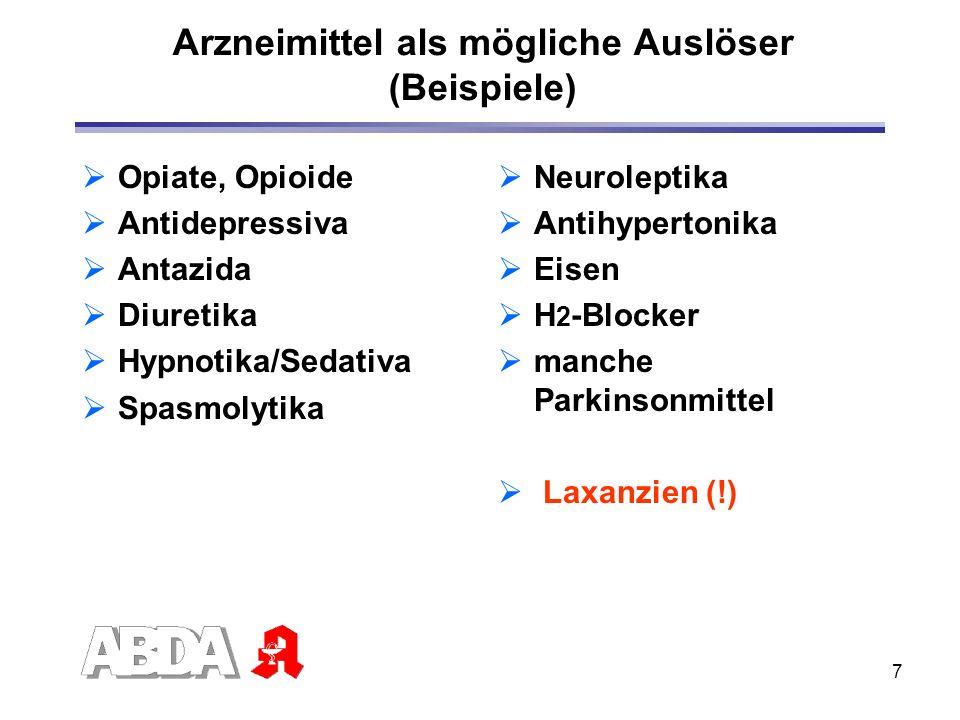 Arzneimittel als mögliche Auslöser (Beispiele)