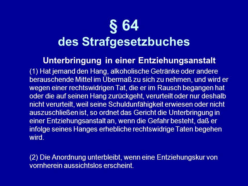 § 64 des Strafgesetzbuches