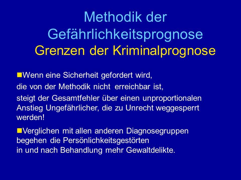 Methodik der Gefährlichkeitsprognose Grenzen der Kriminalprognose