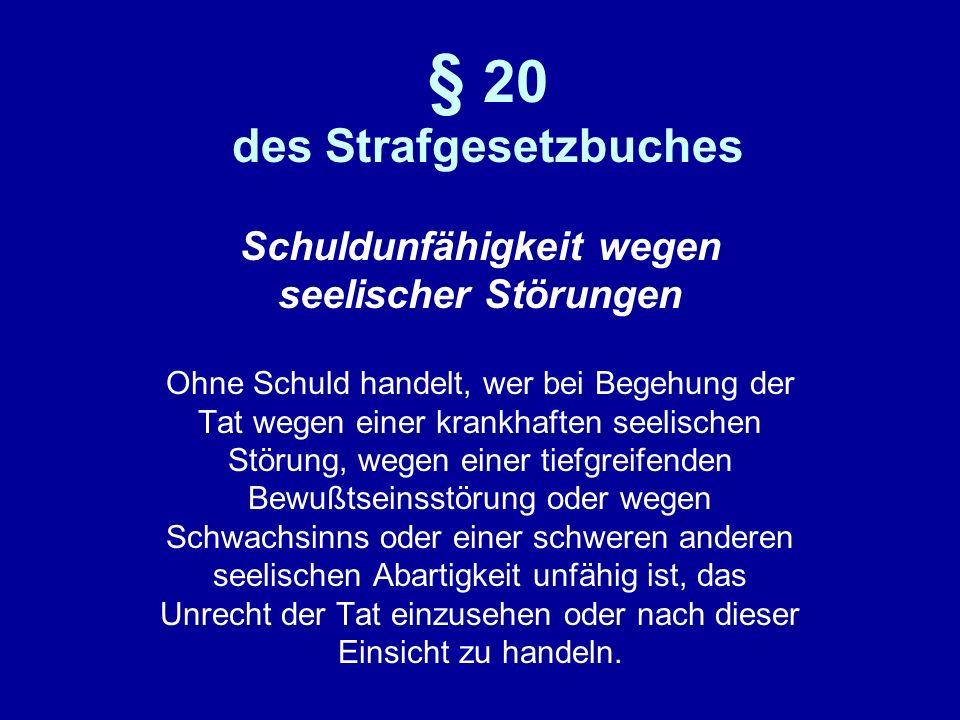 § 20 des Strafgesetzbuches