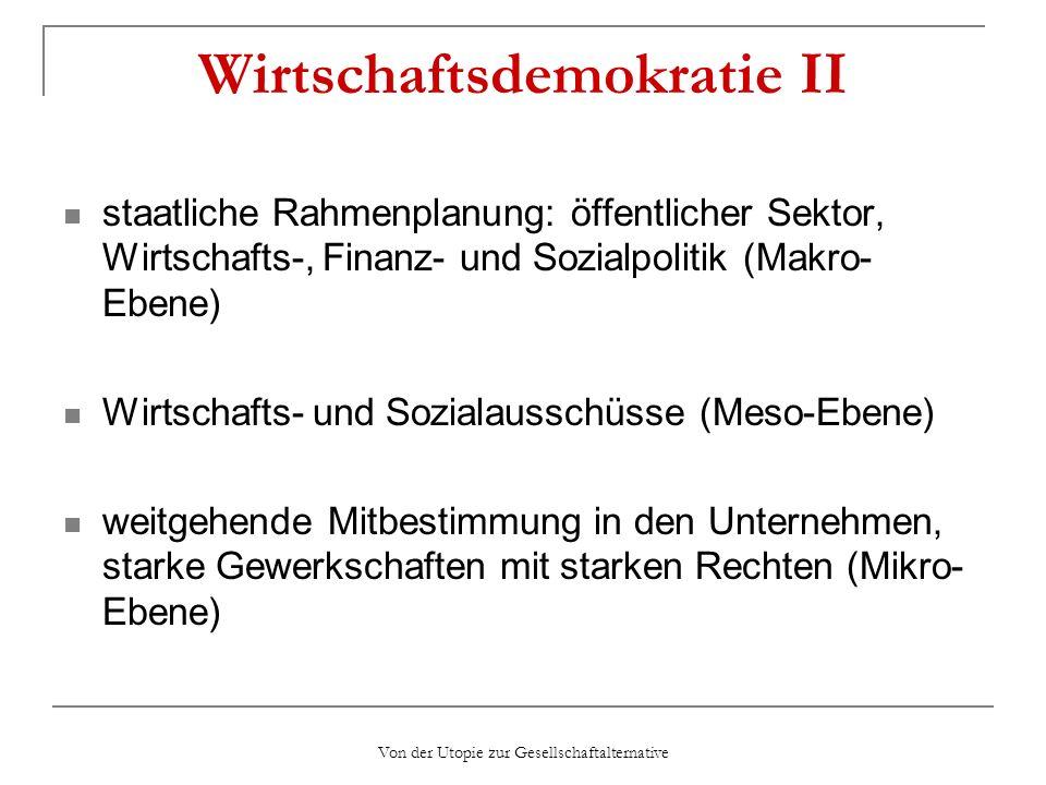 Wirtschaftsdemokratie II