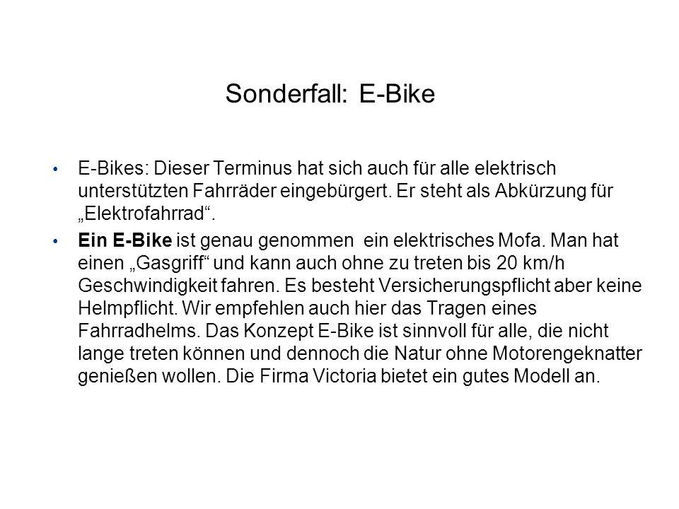 Sonderfall: E-Bike