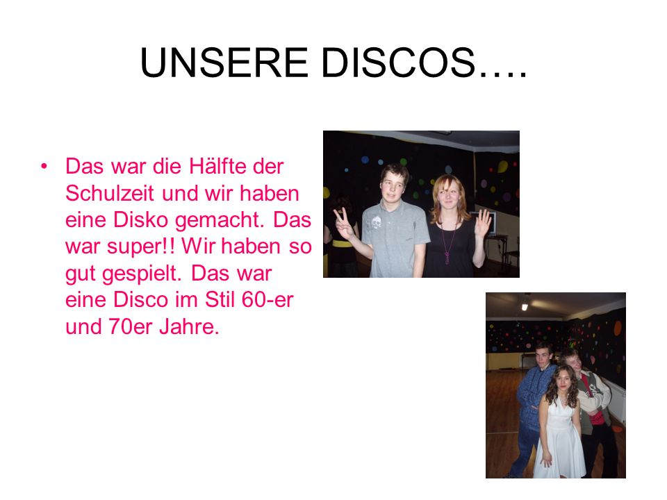 UNSERE DISCOS….