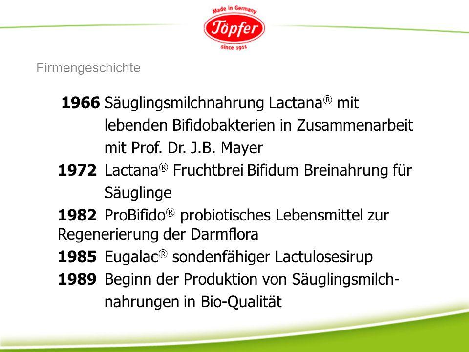 lebenden Bifidobakterien in Zusammenarbeit mit Prof. Dr. J.B. Mayer