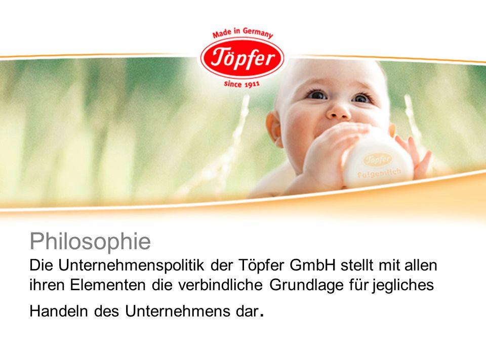 Philosophie Die Unternehmenspolitik der Töpfer GmbH stellt mit allen ihren Elementen die verbindliche Grundlage für jegliches Handeln des Unternehmens dar.