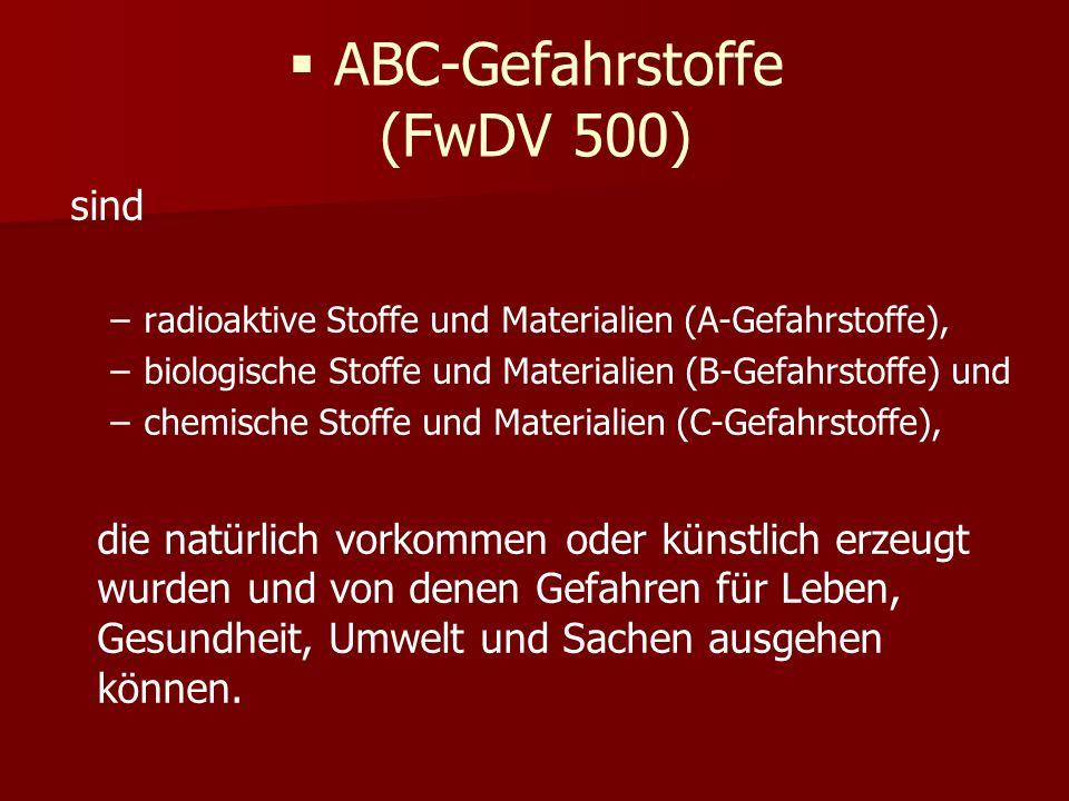 ABC-Gefahrstoffe (FwDV 500)